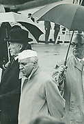 Indian Prime Minister Nehru meeting with West German Chancellor c1961.