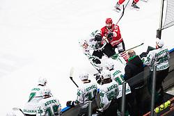 BOHINC Martin vs Andrej HEBAR during Alps League Ice Hockey match between HDD SIJ Jesenice and HK SZ Olimpija on March 2, 2020 in Ice Arena Podmezakla, Jesenice, Slovenia. Photo by Peter Podobnik / Sportida