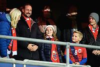 Fotball , 12. november 2014 ,<br /> Play-off , Norge - Ungarn<br /> EURO 2016 - Qualification: play-off<br /> Norway - Hungary 0-1<br /> Haakon Magnus, Mette-Marit , Ingrid Alexandra av Norge, Sverre Magnus av Norge, Marius Borg Høiby