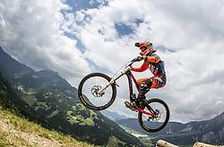 14.06.2014, Bike Park, Leogang, AUT, UCI, Mountainbike Weltcup, Leogang, Downhill, Damen, im Bild Kim Schwemmer (GER) // during Womens Downhill of UCI Mountainbike Worldcup at the Bikepark, Leogang, Austria on 2014/06/14. EXPA Pictures © 2014, PhotoCredit: EXPA/ JFK