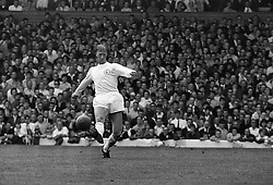Action picture of Jack Charlton, the longest-serving player at Leeds United.