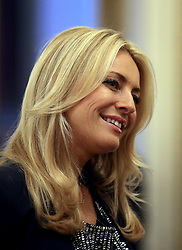 December 23, 2017 - London, London, United Kingdom - Image licensed to i-Images Picture Agency. 22/12/2017. London, United Kingdom. 'Strictly Come Dancing' host Tess Daly talks to guests during a tea dance hosted by The Duchess of Cornwall, President of the National Osteoporosis Society, at Buckingham Palace in London to highlight the benefits for older people of staying active. (Credit Image: © Rota/i-Images via ZUMA Press)