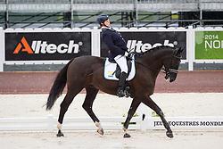 Kerstin Larsson Englund, (SWE), Black Music, - Team Competition Grade Ib Para Dressage - Alltech FEI World Equestrian Games™ 2014 - Normandy, France.<br /> © Hippo Foto Team - Jon Stroud <br /> 25/06/14