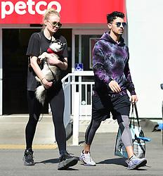 Sophie Turner and Joe Jonas are seen in Los Angeles, CA.
