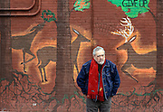 """Barry Crimmins, a pioneer of the Boston comedy scene, photographed in Corning, NY, Wednesday, January 21, 2015. Crimmins will be the subject of a documentary film, """"Call Me Lucky"""", which was directed by his friend, Bobcat Goldthwait, in which he relives the childhood trauma of sexual abuse and crusades against it. The film will be shown at the Sundance Film Festival later this month. <br /> (Heather Ainsworth for The Boston Globe)"""