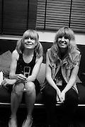 Tom Tom Club - Tina Weymouth and Ladyhawk backstage at Island 50