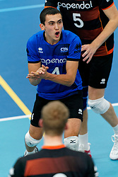26-10-2019 NED: Talentteam Papendal - Draisma Dynamo, Ede<br /> Round 4 of Eredivisie volleyball - Nick Martherus #4 of Talent Team