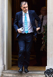 London, December 05 2017. Conservative Chief Whip Julian Smith leaves 10 Downing Street following the weekly cabinet meeting. © Paul Davey