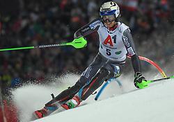 "29.01.2019, Planai, Schladming, AUT, FIS Weltcup Ski Alpin, Slalom, Herren, 1. Lauf, im Bild Henrik Kristoffersen (NOR) // Henrik Kristoffersen of Norway in action during his 1st run of men's Slalom ""the Nightrace"" of FIS ski alpine world cup at the Planai in Schladming, Austria on 2019/01/29. EXPA Pictures © 2019, PhotoCredit: EXPA/ Erich Spiess"