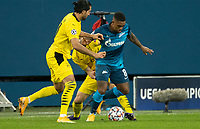 SAINT PETERSBURG, RUSSIA - DECEMBER 08: Malcom of Zenit St. Petersburg during the UEFA Champions League Group F stage match between Zenit St. Petersburg and Borussia Dortmund at Gazprom Arena on December 8, 2020 in Saint Petersburg, Russia. (Photo by MB Media)