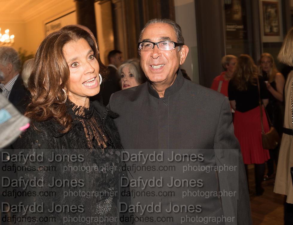 Marion Khalili and David Khalili, Ai Weiwei, Royal Academy, Piccadilly. London.  15 September 2015.