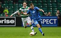 05/11/15 UEFA EUROPA LEAGUE GROUP STAGE<br /> CELTIC v MOLDE FK<br /> CELTIC PARK - GLASGOW<br /> Celtic's Stefan Johansen (left) battles with Knut Olav Rindarey