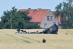 July 6, 2018 - Sakowko, Poland - A Polish Air Force MiG-29 jet crashes in Sakowko, Poland killing the pilot.  (Credit Image: © FORUM via ZUMA Press)