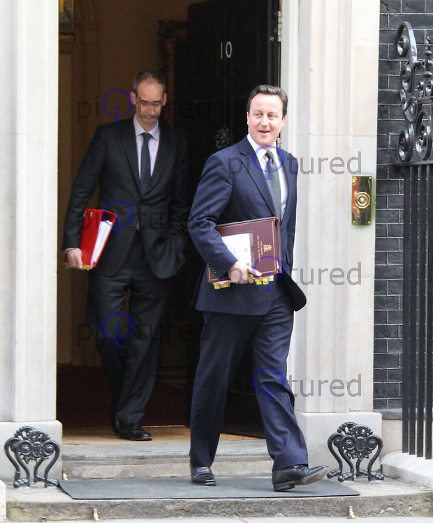 Prime Minister David Cameron Cabinet Meeting Downing Street departures , London, UK, 23 March 2011:  Contact: Rich@Piqtured.com +44(0)7941 079620 (Picture by Richard Goldschmidt)