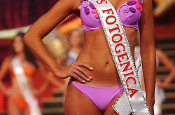 """The 2003 Miss Venezuela Contest.  All 20 contestants took part in a training program with the Miss Venezuela Organization.  The program includes classes on hair, makeup, modeling, question and answer as well as exercise.  The 20 contestants were chosen from among hundreds during """"castings"""" across Venezuela.  Ana Karina Añez, from Lara State, was crowned Miss Venezuela 2003."""