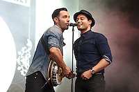 West End Live 2016; Trafalgar Square; London UK; 18-19 June 2016; Photo by Brett D. Cove; Ramin Karimloo; Stephen Rahman-Hughes