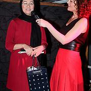 NLD/Amsterdam/20121129- Uitreiking Red's Hot Women Awards 2012, Winnares in de categorie Maatschappij Shirin Musa