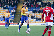 Tyler Walker of Mansfield Town (19) during the The FA Cup match between Mansfield Town and Charlton Athletic at the One Call Stadium, Mansfield, England on 11 November 2018.