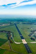 Nederland, Friesland, Leeuwarden, 04-11-2018; Vliegbasis Leeuwarden, Main Operation Base, van de Koninklijke Luchtmacht. Huisvest onder andere een squadron F-16's.<br /> Leeuwarden air base.<br /> <br /> luchtfoto (toeslag op standaard tarieven);<br /> aerial photo (additional fee required);<br /> copyright © foto/photo Siebe Swart