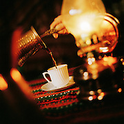 The traditional, thick Turkish Coffee at a cafe in Istanbul, Turkey