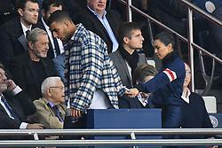 Kourtney Kardashian and her boyfriend boyfriend Younes Bendjima attend the UEFA Champions League group B match Paris Saint-Germain (PSG) v FC Bayern Munich at the Parc des Princes stadium on September 27, 2017 in Paris, France. Photo by Laurent Zabulon/ABACARESS.COM