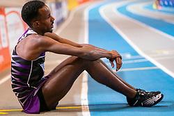 Mahadi Abdi Alina after the 3000 meter during the Dutch Indoor Athletics Championship on February 23, 2020 in Omnisport De Voorwaarts, Apeldoorn
