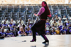 Claudio Ponce performs the Gaucho.  Reichhold Center presents their visiting artist workshop series with dancers from Rhythm and Passion.  Reichhold Center.  Rhythm and Passion will perform at Reichhold Center on Saturday May 18th at 8 pm.  17 May 2013.   © Aisha-Zakiya Boyd