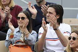 May 31, 2019 - 2019 Roland-Garros Tennis Open. Internationaux de tennis de Roland-Garros.Tribunes. Capucine Anav. Alain-Fabien Delon.....240179 2019-05-30  (Credit Image: © Arnal-Durden/Starface via ZUMA Press)