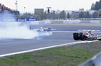 Motor<br /> Formel 1<br /> Foto: Dppi/Digitalsport<br /> NORWAY ONLY<br /> <br /> EUROPE GP - NURBURGRING 29/05/2005 <br /> <br /> KIMI RAIKKONEN (FIN) / MCLAREN MERCEDES - ACTION - CRASH