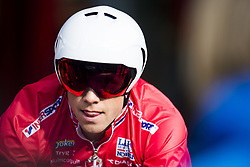 September 20, 2017 - Bergen, NORWAY - 170920 Edvald Bassoon Hagen of Norway in the warm up zone ahead of the Men Elite Individual Time Trial on September 19, 2017 in Bergen..Photo: Jon Olav Nesvold / BILDBYRN / kod JE / 160023 (Credit Image: © Jon Olav Nesvold/Bildbyran via ZUMA Wire)