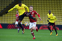 January 6, 2018 - Watford, England, United Kingdom - Watford's Christian Kabasele..during FA Cup 3rd Round match between Watford  and Bristol  City at Vicarage Road Stadium, Watford ,  England 06 Jan 2018. (Credit Image: © Kieran Galvin/NurPhoto via ZUMA Press)