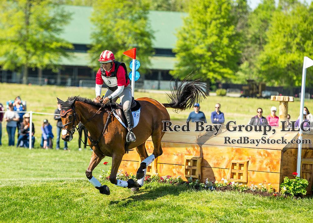 Buck Davidson (USA) and Park Trader during the cross-country at the 2019 Land Rover Kentucky Three-Day Event presented by MARS EQUESTRIAN in Lexington, Kentucky