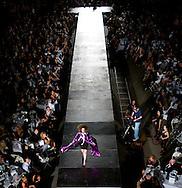 Omaha, NEB 9/19/09.A model wearing a Nicole Brown leaves the runway...Chris Machian/The World-Herald