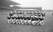 All Ireland Senior Football Final Galway v. Dublin, Croke Park..Galway Team.The Galway Team defeated by Dublin:.Back Row Left to right S. Leyden, M. McDonagh, N. Tierney, M. MacReynolds, M. Moore, E. Colleran and S. Meade,( People  nine and ten from left unidentified).Front Row Left to Right S. Donnellan, C. Dunne, J. Keenan,  B. Geraghty, M. Garrett Captain, S. B. McDermott, P. Donnellan, M. Newell, (people nine and ten unidentified. from left)..Substitutes: T. Farrell, S. Brennan, J. Keeley, B. Geraghty.22.09.1963