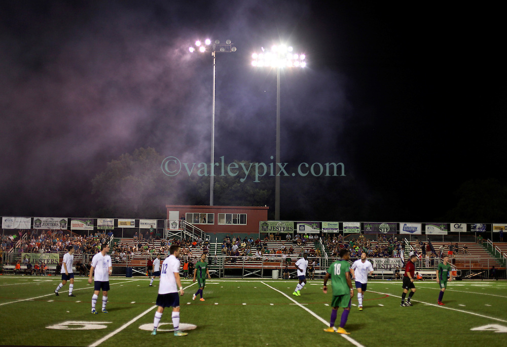 06 June 2015. New Orleans, Louisiana.<br /> National Premier Soccer League. NPSL. <br /> New Orleans Jesters take on Chattanooga FC in a Conference game at home in the Pan American Stadium. Chattanooga take a 4-0 victory over the Jesters.<br /> Photo; Charlie Varley/varleypix.com