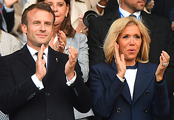 Emmanuel Macron, President of France and Brigitte Macron attend the 2019 FIFA Women's World Cup France group A match between France and Korea Republic at Parc des Princes on June 07, 2019 in Paris, France. photo Christian Liewig Abacapress.com