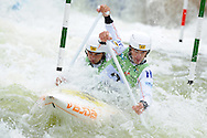 ICF Canoe slalom world cup at the Cardiff white water centre. pic by Andrew Orchard,