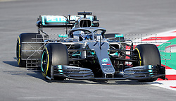 Mercedes' Valtteri Bottas during day one of pre-season testing at the Circuit de Barcelona-Catalunya.