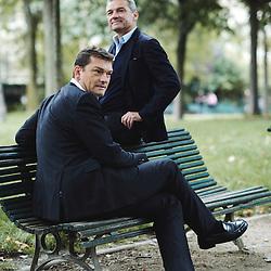 Paris, France. September 18, 2015. Jacques et Philippe der Megreditchian at the Parc Monceau. Photo: Antoine Doyen