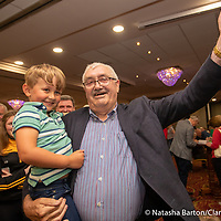 Bill Chambers with his grandson