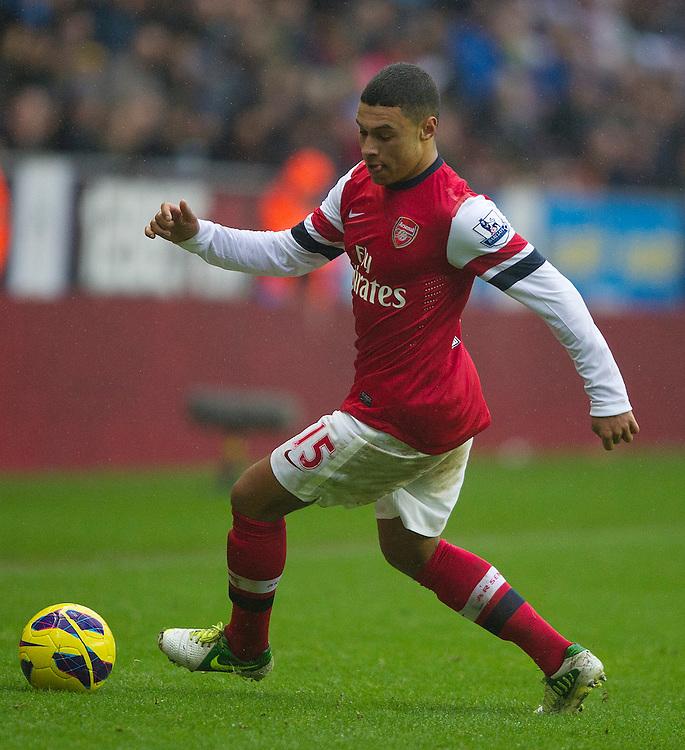 Arsenal's Alex Oxlade-Chamberlain ..Football - Barclays Premiership - Wigan Athletic v Arsenal - Saturday 22nd December 2012 - DW Stadium - Wigan..