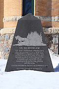 Located in front of the Iron County Courthouse is a stone monument to the Finnish settlers that contributed to building the economic and social environment of the western UP.