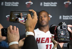 September 25, 2017 - Miami, Florida, U.S. - Miami Heat guard Dion Waiters (11) at Media Day at AmericanAirlines Arena in Miami, Florida on September 25, 2017. (Credit Image: © Allen Eyestone/The Palm Beach Post via ZUMA Wire)