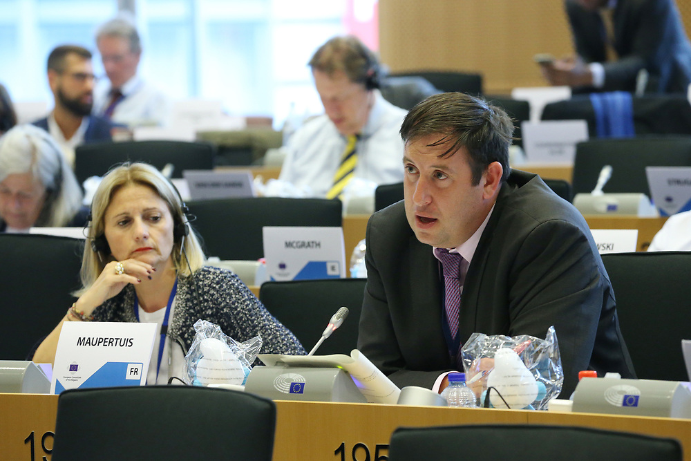 11 May 2017, 123rd Plenary Session of the European Committee of the Regions <br /> Belgium - Brussels - May 2017 <br /> <br /> MCCARTHY Kieran,Cork City Council,Ireland<br /> <br /> © European Union / Patrick Mascart