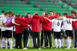 Team of Germany after the UEFA European Under-17 Championship Group A match between Iceland and Germany on May 7, 2012 in SRC Stozice, Ljubljana, Slovenia. Germany defeated Iceland 1-0. (Photo by Vid Ponikvar / Sportida.com)