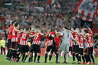 Athletic de Bilbao's team celebrates the victory in the Champions League 2014/2015 Play-off.August 27,2014. (ALTERPHOTOS/Acero)