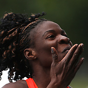 Amantle Montsho, Botswana, after winning the Women's 400m at the Diamond League Adidas Grand Prix at Icahn Stadium, Randall's Island, Manhattan, New York, USA. 25th May 2013. Photo Tim Clayton