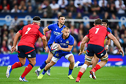 Callum Braley of Italy in action during todays match<br /> <br /> Photographer Craig Thomas/Replay Images<br /> <br /> Quilter International - England v Italy - Friday 6th September 2019 - St James' Park - Newcastle<br /> <br /> World Copyright © Replay Images . All rights reserved. info@replayimages.co.uk - http://replayimages.co.uk