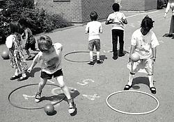 Playground, primary school Nottingham UK 1992