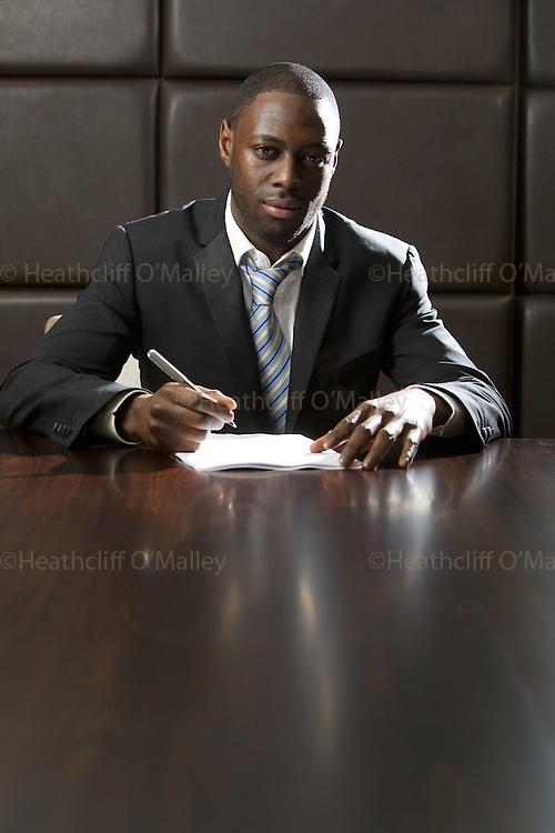 Fea0035706 . Daily Telegraph..Tottenham defender Ledley King photographed in the club boardroom at Tottenham Hotspur...14 November 2011.